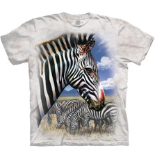 Zebra Portrait Unisex Cotton T-Shirt | The Mountain | 105965 | Zebra T-Shirt