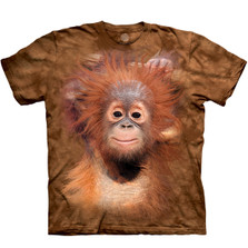 Orangutan Hang Unisex Cotton T-Shirt | The Mountain | 105932 | Orangutan T-Shirt