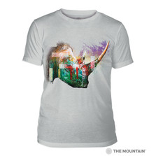Painted Rhino Grey Unisex Tri-Blend T-Shirt | The Mountain | 5463250748 | Rhino T-Shirt