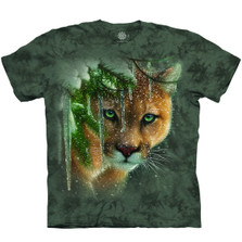 Frozen Cougar Unisex Cotton T-Shirt | The Mountain | 106389 | Cougar T-Shirt