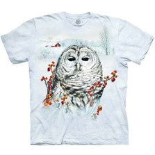 Country Owl Unisex Cotton T-Shirt | The Mountain | 106394 | Owl T-Shirt