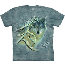 Broken Silence Wolf Unisex Cotton T-Shirt | The Mountain | 106390 | Wolf T-Shirt