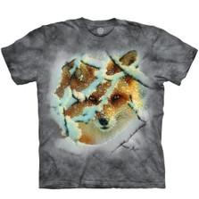 Hide and Seek Fox Unisex Cotton T-Shirt | The Mountain | 106393 | Fox T-Shirt