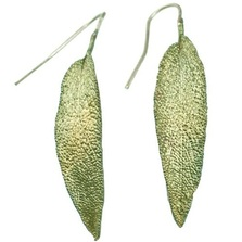 Sage Leaf Earrings | Michael Michaud Jewelry | SS4412bz