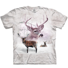 Wintertime Deer Unisex Cotton T-Shirt | The Mountain | 106392 | Deer T-Shirt