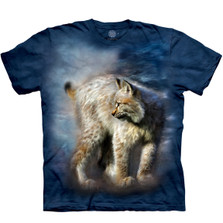Silent Spirit Bobcat Unisex Cotton T-Shirt | The Mountain | 106275 | Bobcat T-Shirt