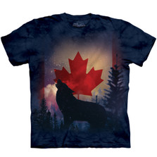 Canadian Howl Wolf Unisex Cotton T-Shirt | The Mountain | 106123 | Wolf T-Shirt