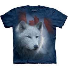 Canadian White Wolf Unisex Cotton T-Shirt   The Mountain   106122   Wolf T-Shirt