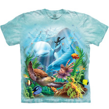 Seavillians Sea Life Unisex Cotton T-Shirt | The Mountain | 105968 | Sea Life T-Shirt