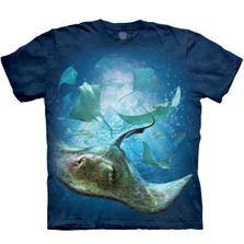 School of Stingrays Unisex Cotton T-Shirt | The Mountain | 105969 | Stingray T-Shirt