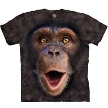 Happy Chimp Unisex Cotton T-Shirt | The Mountain | 105962 | Chimpanzee T-Shirt
