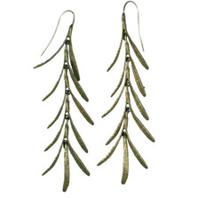 Rosemary Long Wire Dangle Earrings | Michael Michaud Jewelry | SS4415bz
