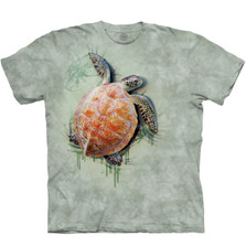Sea Turtle Climb Unisex Cotton T-Shirt | The Mountain | 105947 | Sea Turtle T-Shirt