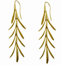 Rosemary Gold Plated Wire Earrings | Michael Michaud Jewelry | SS4415BZG