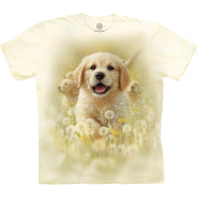 Golden Puppy Unisex Cotton T-Shirt | The Mountain | 105933 | Golden Retriever T-Shirt