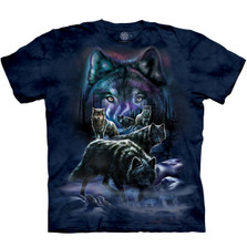 Wolf Pack Unisex Cotton T-Shirt | The Mountain | 105915 | Wolf T-Shirt