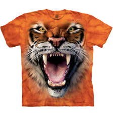 Roaring Tiger Face Unisex Cotton T-Shirt | The Mountain | 105911 | Tiger T-Shirt
