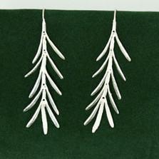 Rosemary Silver Long Earrings | Michael Michaud Jewelry | SS4415BZSP -2