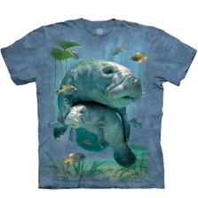 Manatees Collage Unisex Cotton T-Shirt | The Mountain | 105903 | Manatee T-Shirt