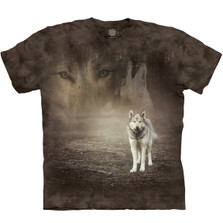 Grey Wolf Portrait Unisex Cotton T-Shirt | The Mountain | 105892 | Wolf T-Shirt
