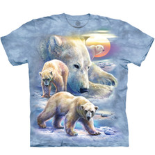 Sunrise Polar Bear Collage Unisex Cotton T-Shirt | The Mountain | 105895 | Polar Bear T-Shirt