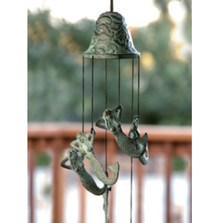 Mermaid Brass Wind Chime | 30507 | SPI Home