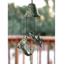 Mermaid Brass Wind Chime | 30507 | SPI Home