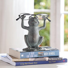 Frog on Lilypad Eyeglass Stand Sculpture | SPI Home | 34614