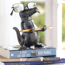 Alligator Eyeglass Stand Sculpture | SPI Home | 34612