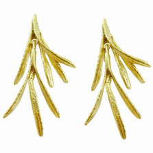 Rosemary Gold Plated Post Earrings | Michael Michaud Jewelry | SS4416BZG