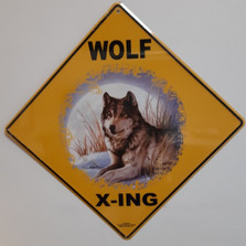 Wolf Moon Metal Crossing Sign | Wolf Moon Xing Sign | MXS30161