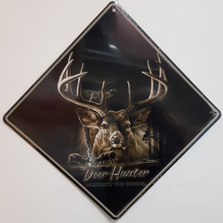 Deer Hunter Metal Crossing Sign | Deer Hunter Xing Sign | MXSBW0426