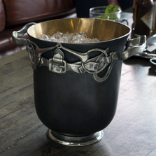 Equestrian Bronze Ice Bucket   Vagabond House   H503EQ