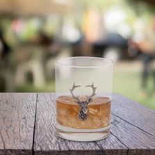 Elk Head Cocktail Glass Set of 4 | Vagabond House | B407EH-4