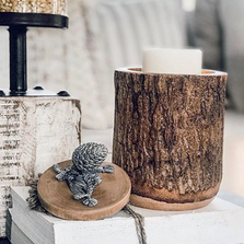 Pine Cone Wood Canister | Vagabond House | L259PC