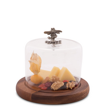 Honeybee Cheese Board with Glass Dome  | Vagabond House | N236HB