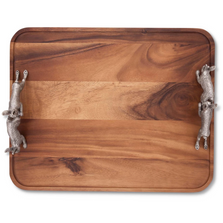 Hopping Bunny Rabbits Wood Tray | Vagabond House | G214HB