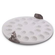 French Hen Stoneware Deviled Egg Tray | Vagabond House | K302CK