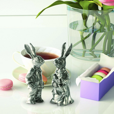 Dressed Rabbits Pewter Salt Pepper Shakers | Vagabond House | R116B