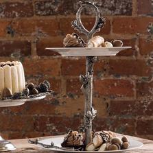 Acorn and Oak Leaf Dessert Stand | Vagabond House | L328A