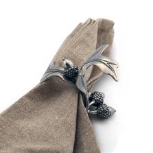 Acorn Oak Leaf Pewter Napkin Ring Set of Four | Vagabond House | L115-4