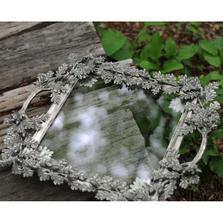 Acorn and Oak Leaf Square Glass Tray | Vagabond House | L408