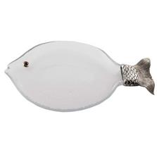 Ocean Fish Glass Serving Tray | Vagabond House | O466FL