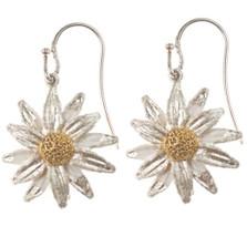 Daisy Drop Wire Earrings   Michael Michaud Jewelry   SS4582bz