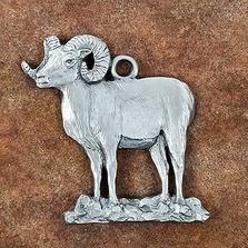 Bighorn Sheep Pewter Ornament | Andy Schumann | SCHBIGHORNORN