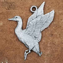 Mallard Flight Pewter Ornament | Andy Schumann | SCHMALLARDORN