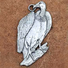 Vulture Pewter Ornament | Andy Schumann | SCHVULTUREORN