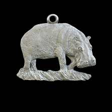 Hippo Standing Pewter Ornament | Andy Schumann | SCHHIPPO