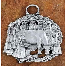 8 Maids a Milking Pewter Christmas Ornament | Andy Schumann | SCH8MAIDS
