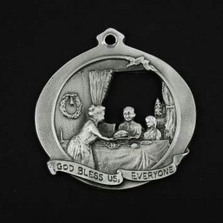 God Bless Us Everyone Pewter Christmas Ornament | Andy Schumann | SCHGODBLESSORN